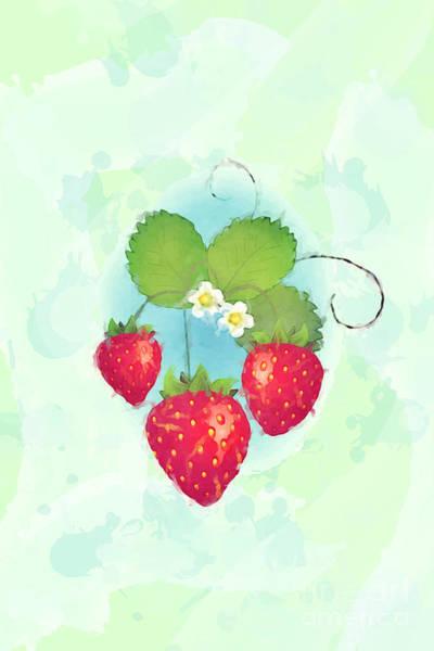 Wall Art - Photograph - Summer Strawberries by Jane Rix