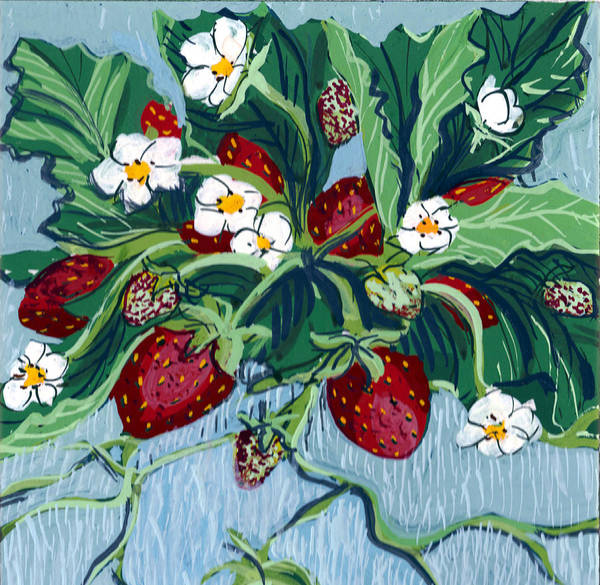 Painting - Summer Strawberries by Mary Palmer