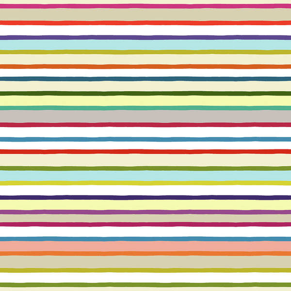 Wall Art - Painting - Summer Stripe Multi by MGL Meiklejohn Graphics Licensing