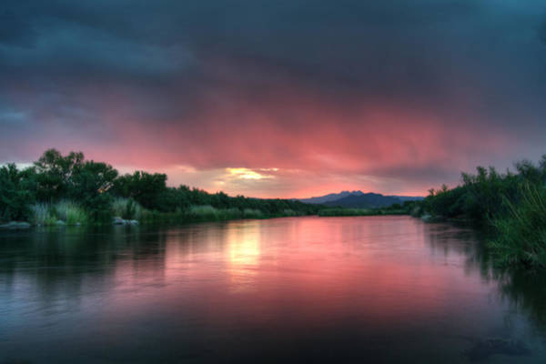 Photograph - Summer Sunrise On The Salt River by Tam Ryan