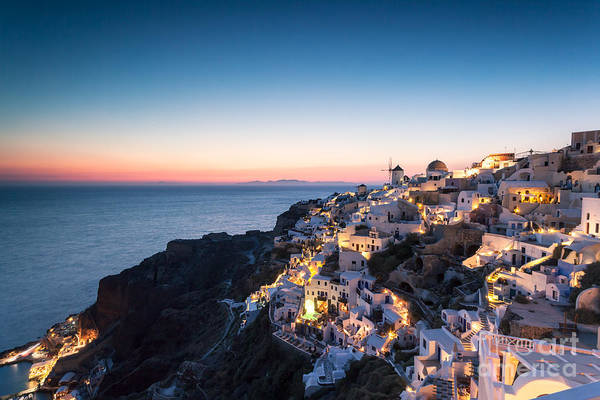 Greece Photograph - Summer Sunset Over Oia by Matteo Colombo