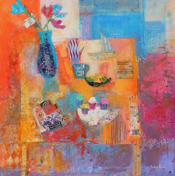Ornament Painting - Summer Table by Sylvia Paul
