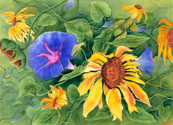 Entangled Painting - Summer Tango by Rhonda Leonard