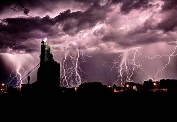 Photograph - Summer Thunder And Lightening by David Matthews
