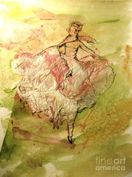 Paper Dress Mixed Media - Summer Time by Alyona Kuraeva