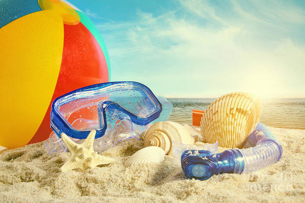Photograph - Summer Toys At The Beach by Sandra Cunningham