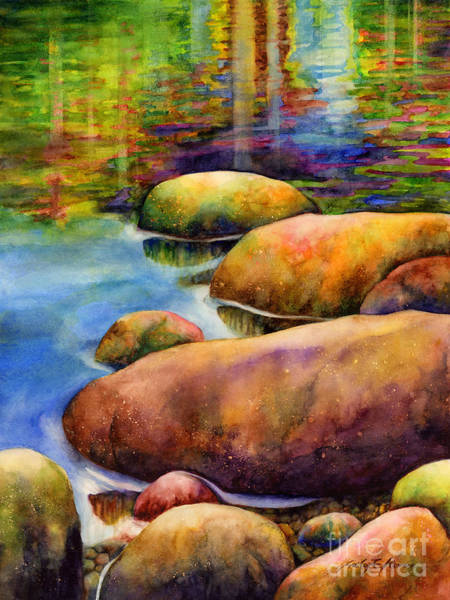 Colorful Rocks Wall Art - Painting - Summer Tranquility by Hailey E Herrera