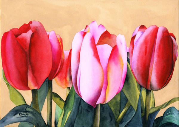 Painting - Summer Tulips by Ken Powers