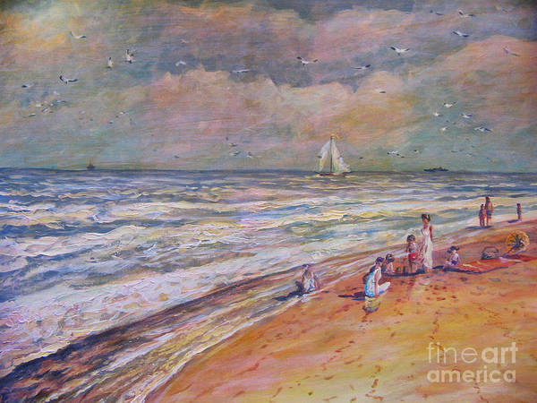 Baltic Sea Painting - Summer Vacations by Dariusz Orszulik