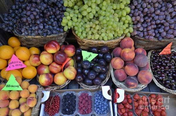Summer Variety Of Fruits In Italy Art Print by Sami Sarkis