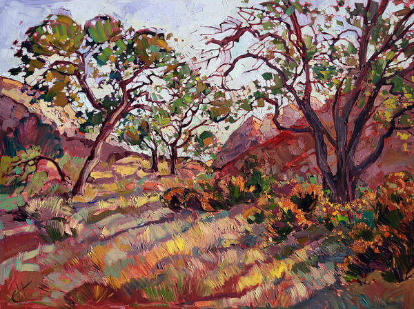 Zion Painting - Summer Zion by Erin Hanson