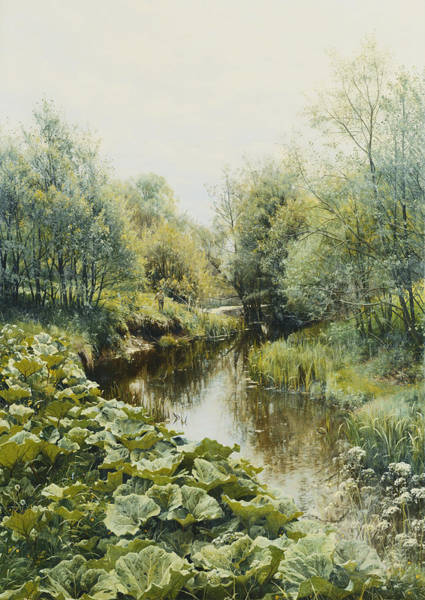 1900s Wall Art - Painting - Summerday At The Stream by Peder Monsted