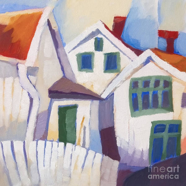 Painting - Summerhouses by Lutz Baar
