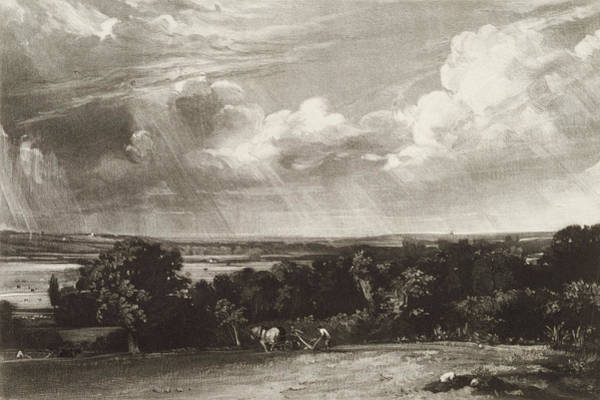 English Countryside Photograph - Summerland, Engraved By David Lucas 1802-81 Mezzotint by John Constable