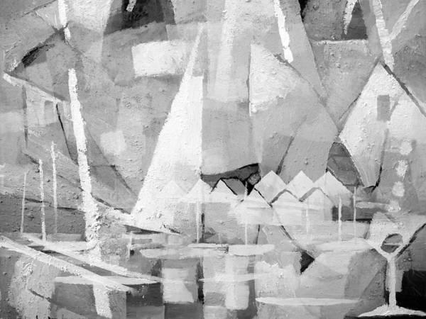 Painting - Summerlife Greyscale by Lutz Baar