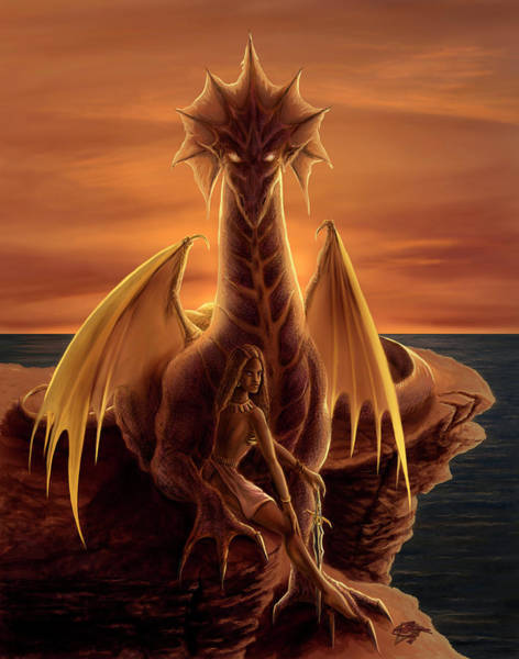Wall Art - Painting - Summer's Dragon by MGL Meiklejohn Graphics Licensing