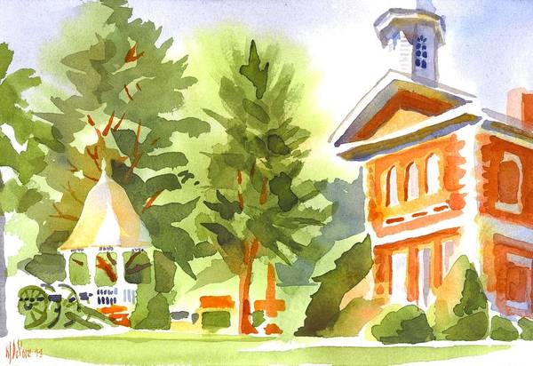 Painting - Summers Morning On The Courthouse Square by Kip DeVore