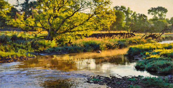 Painting - Summer's Stream Dawn by Bruce Morrison