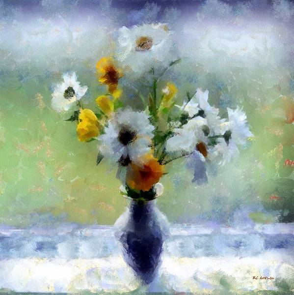Painting - Summerstorm Still Life by RC DeWinter