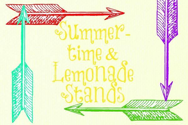 Summertime Digital Art - Summertime And Lemonade Stands by Chastity Hoff