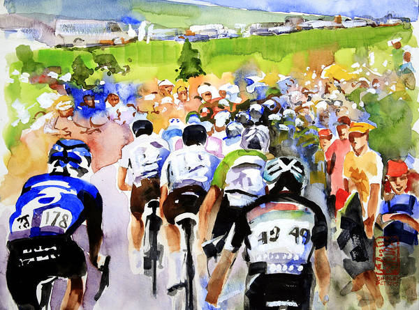 Le Tour De France Wall Art - Painting - Summertime In France by Shirley  Peters