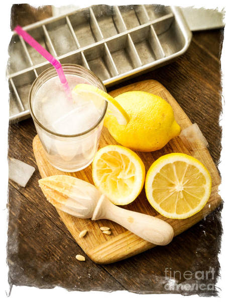 Recipe Photograph - Summertime Lemonade by Edward Fielding
