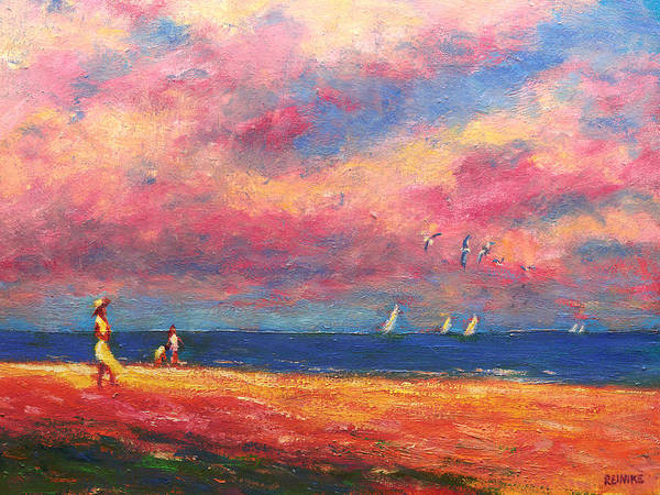 Painting - Summertime On The Beach by Vernon Reinike