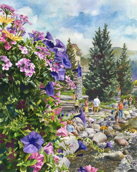 Painting - Summertime Saturday by Anne Gifford