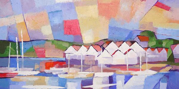 Painting - Summerview Panoramic by Lutz Baar
