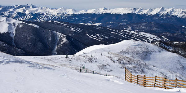 Arapahoe County Wall Art - Photograph - Summit County Ski Resorts by Benjamin Reed