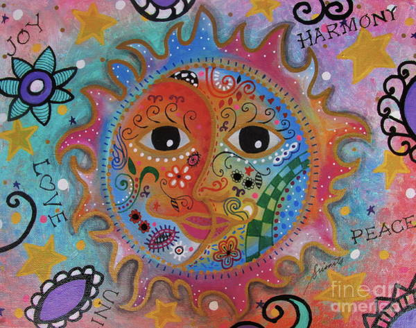 Painting - Sun And Moon by Pristine Cartera Turkus
