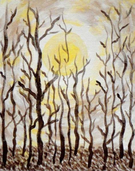 Sun And Trees Art Print by Valerie Howell