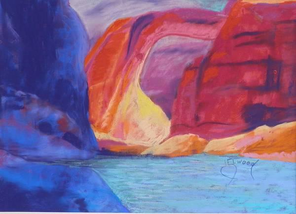 Elwood Blues Painting - Sun Behind Rainbow Bridge by Jann Elwood