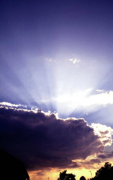 Skane Photograph - Sun Behind Storm Cloud by Dan Sams/science Photo Library