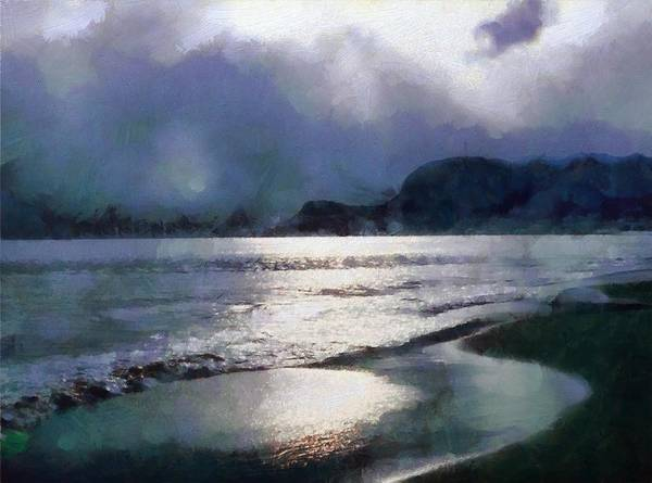 Seaside Digital Art - Sun Breaking Through On A Cloudy Day by Gun Legler