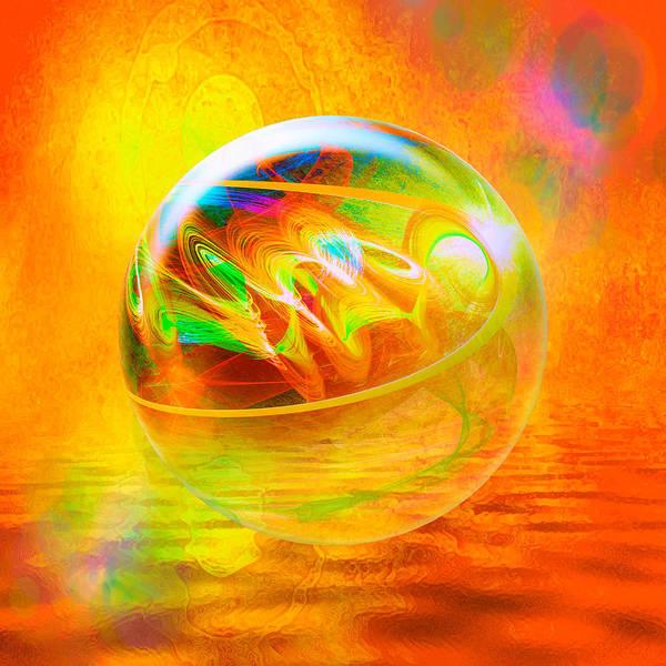 Digital Art - Sun Bubble by Rick Wicker