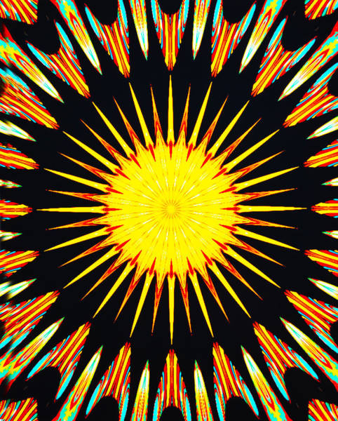 Color Burst Digital Art - Sun Burst by Barbara Snyder