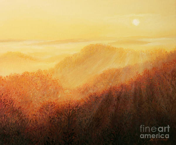 Wall Art - Painting - Sun Caress by Kiril Stanchev
