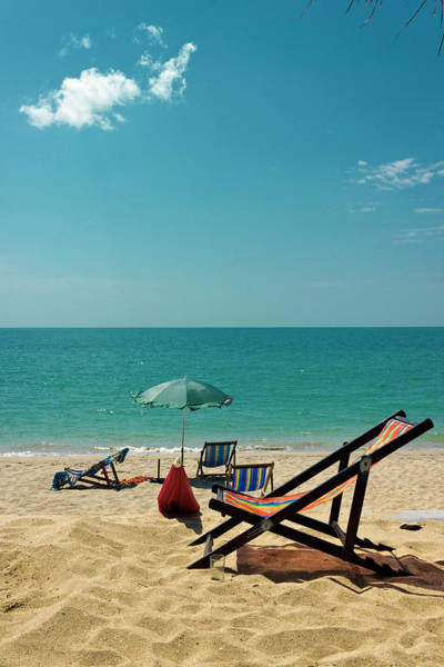 Lounge Chair Photograph - Sun Chair On The Beach by Kieran Stone