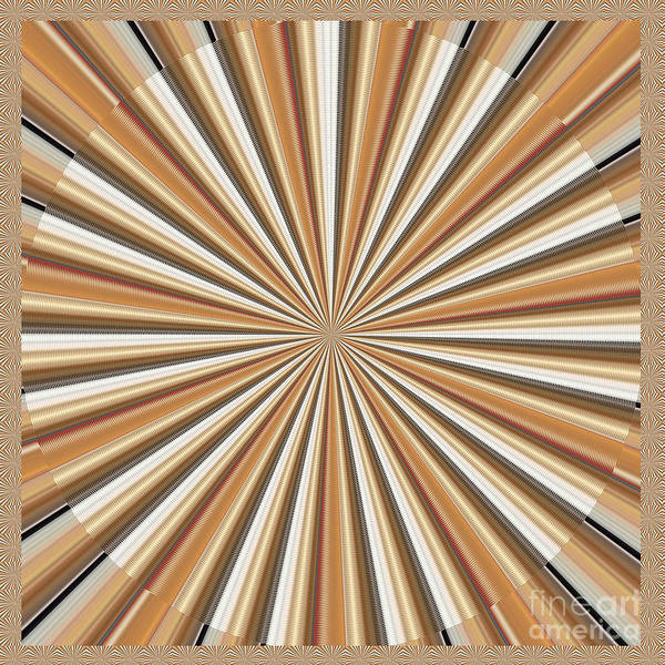 Wall Art - Painting - Sun Chakra Gold Round Circle Sparkle Motivational Decoration Yoga Meditation Tool by Navin Joshi