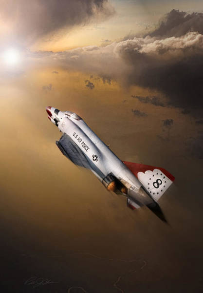 F-4 Wall Art - Digital Art - Sun Chaser 8 by Peter Chilelli