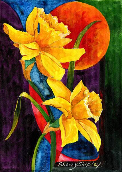 Painting - Sun Daffoldils by Sherry Shipley