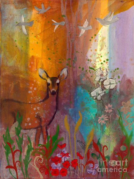 Painting - Sun Deer by Robin Maria Pedrero