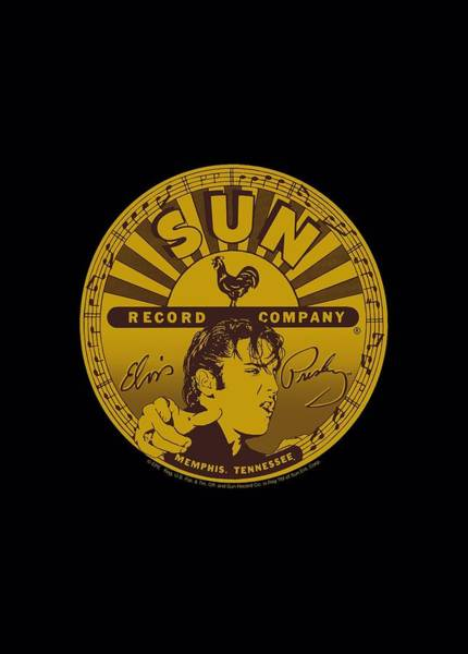 Wall Art - Digital Art - Sun - Elvis Full Sun Label by Brand A