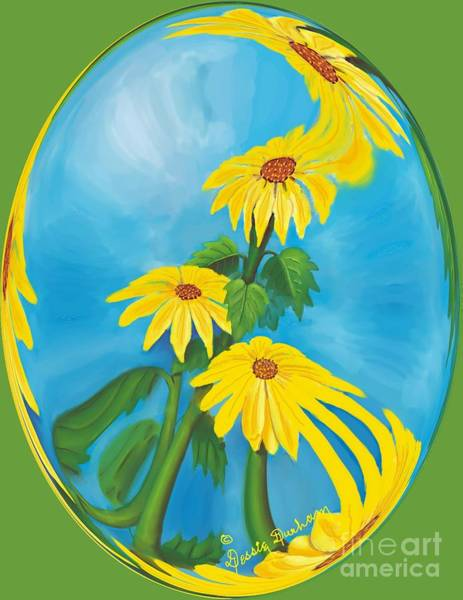 Wall Art - Digital Art - Sun Flowers by Dessie Durham