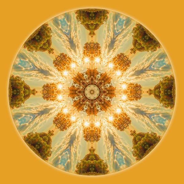 Sun Glow Mandala Art Print