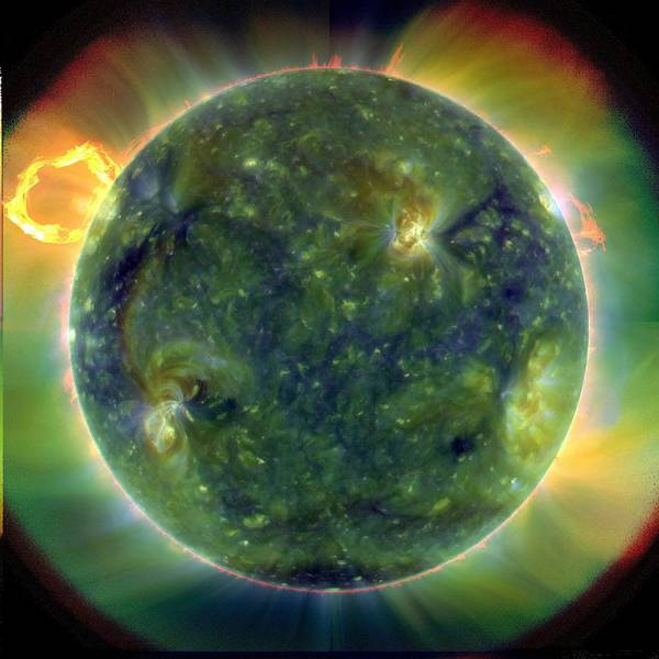 First Star Photograph - Sun by Gsfc/sdo/nasa/science Photo Library