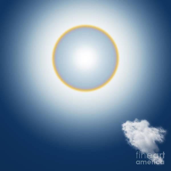 Natural Mixed Media - Sun Halo by Atiketta Sangasaeng