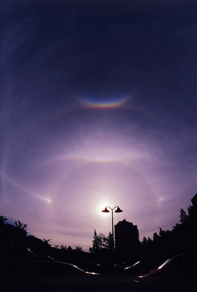 Halo Photograph - Sun Haloes by Pekka Parviainen/science Photo Library