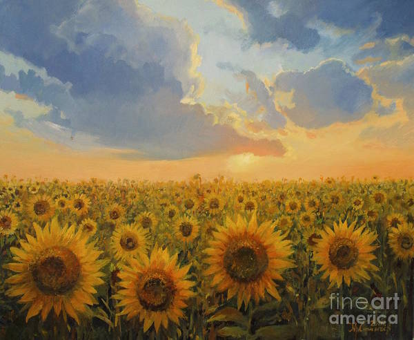 Harvesting Wall Art - Painting - Sun Harmony by Kiril Stanchev